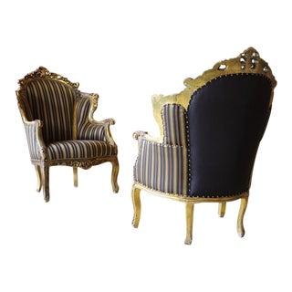 Glitwood Victorian Armchairs - A Pair