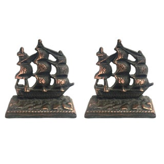 Sailboat Bookends - a Pair