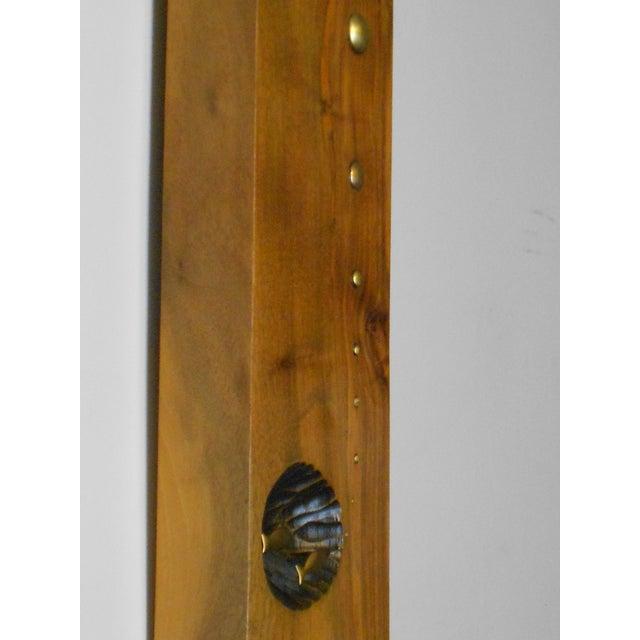 Image of Mid-Century Modern Wood & Brass Wall Art