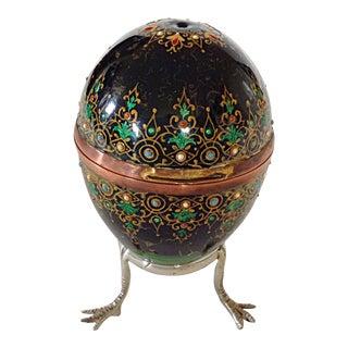 Enameled Egg Box on Stand