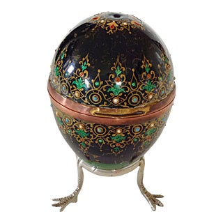 Enameled Egg Box on Stand
