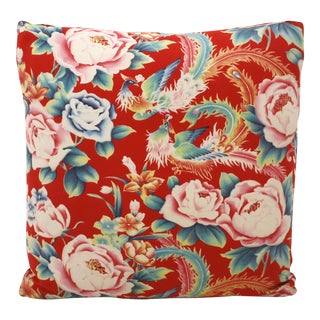 Chinese Floral Birds Pillow