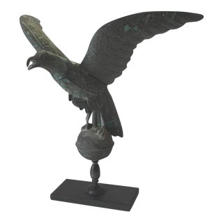 Fantastic Mounted 19th Century Full Body Eagle Weather Vane