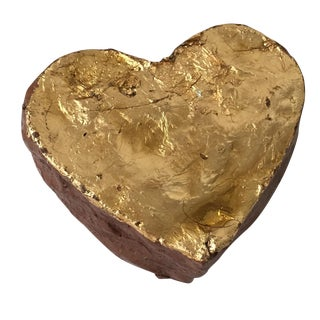 Gilt Ceramic Heart