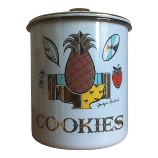 Vintage Georges Briard Mid-Century Cookie Canister