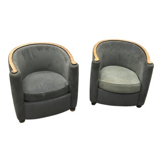 French Art Deco Club Chairs - A Pair