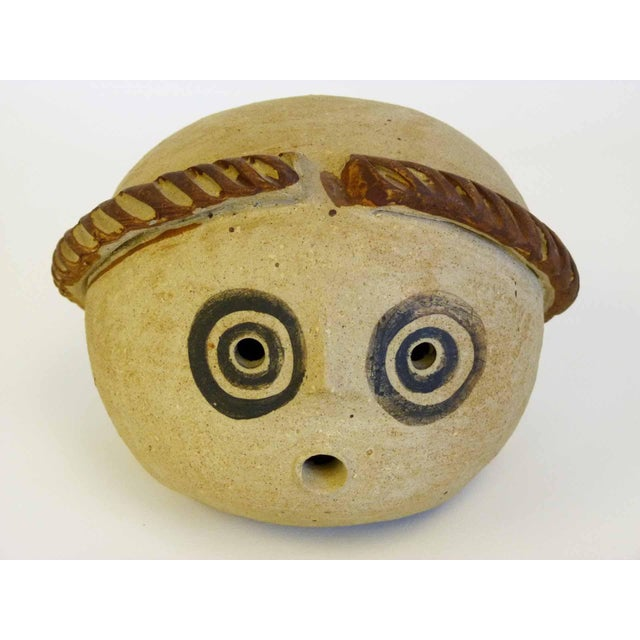 Image of Abstract Mid-Century Ceramic Head Sculpture