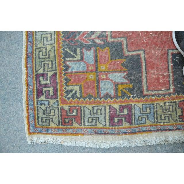 Antique Turkish Oushak Rug - 4′ × 8′1″ - Image 7 of 7