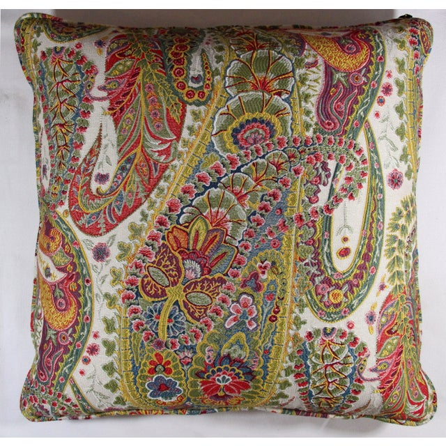 Multi Color Paisley Pillow - Image 2 of 5