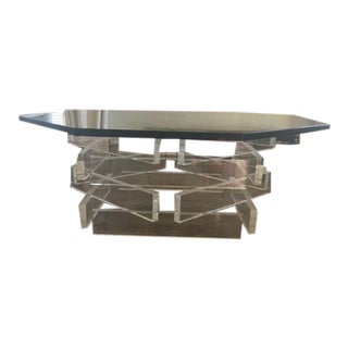 Lucite 'Brick' Coffee Table