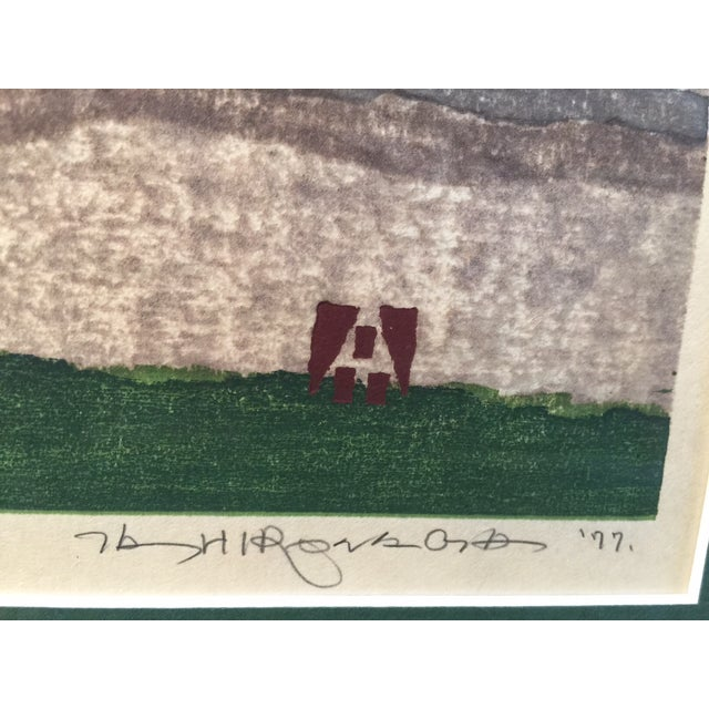 Takehiko Hironaga Large Woodblock Print - Image 8 of 8