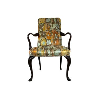 Antique English Queen Anne Accent Chair