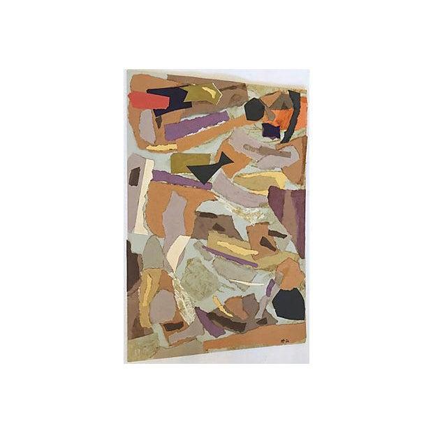 Mariette Bevington Mid-Century Collage - Image 5 of 5