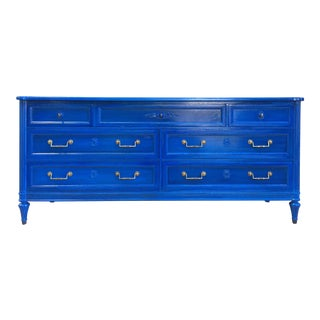 Vintage Henredon Glossy Blue Dresser