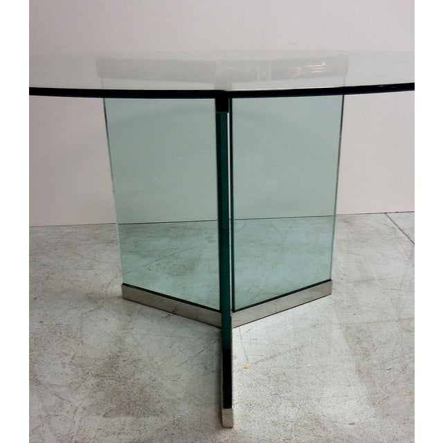 Pace Round Chrome & Glass Dining Table - Image 5 of 6