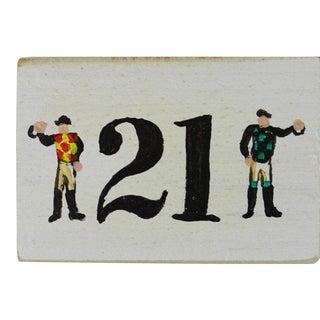 """The """"21"""" Club Two Jockeys Faux Matchbook"""