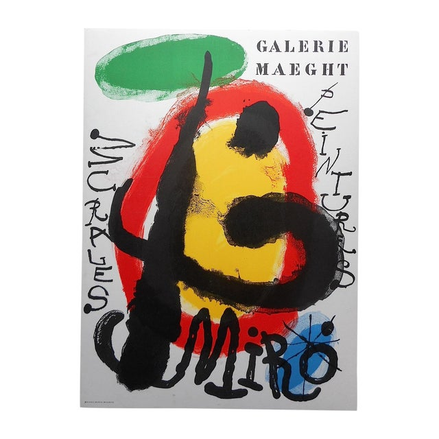 Vintage Modern Joan Miro Lithograph - Image 1 of 3