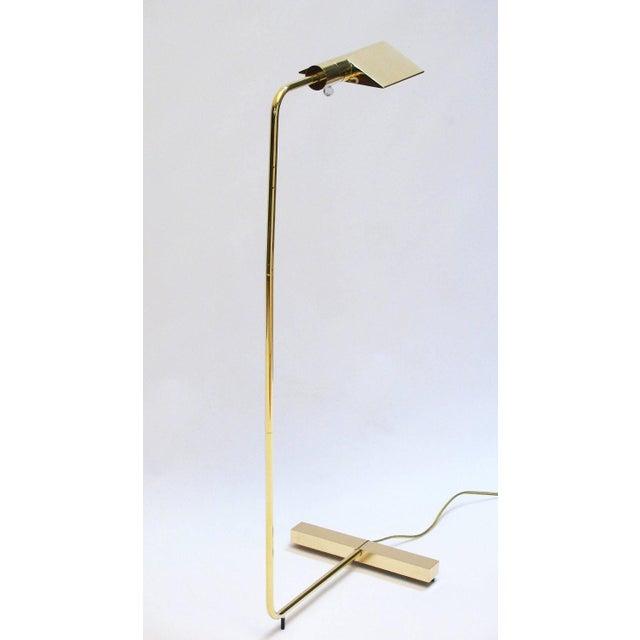 Cedric Hartman Polished Brass Reading Lamp - Image 7 of 8