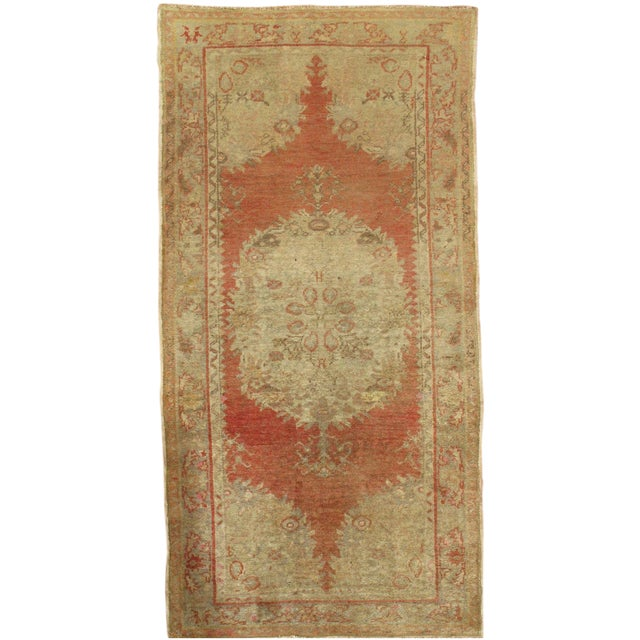 "Vintage Turkish Oushak Rug - 3'2"" x 6'4"" - Image 1 of 3"