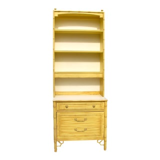 Thomasville Faux Bamboo Dresser With Hutch