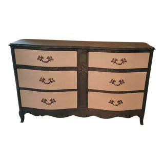 Vintage French Provincial Double Dresser