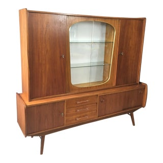 German Mid Century Atomic Teak Bar/Cabinet
