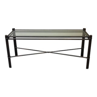 Kolkka Glass Top Iron Console Table