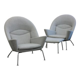 Oculus Chairs and Ottoman - A Pair