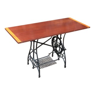 Handcrafted Vintage Sewing Machine Table or Desk