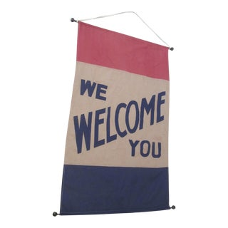 Historical 1900 Political Convention Welcome Banner Flag
