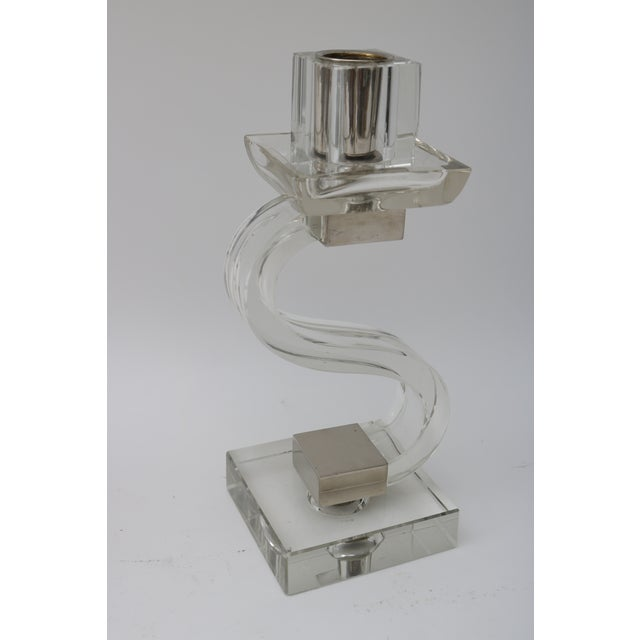 Polished Chrome Trim Candle Holders - A Pair - Image 3 of 9