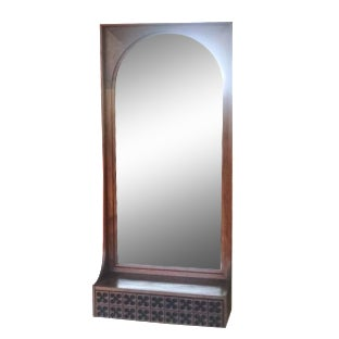 Walnut Mirror by Howard Miller Clock Company
