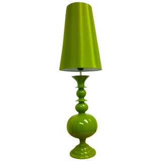 Green Table Lamps - A Pair