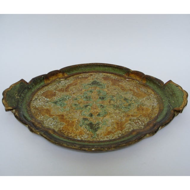 Florentine Gesso And Wood Tray - Image 3 of 8