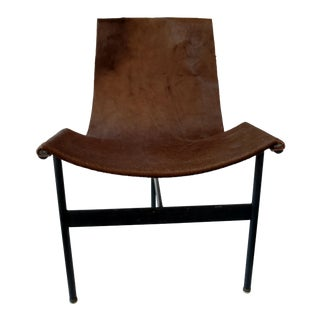 Metal and Leather Sling Zaha Chair