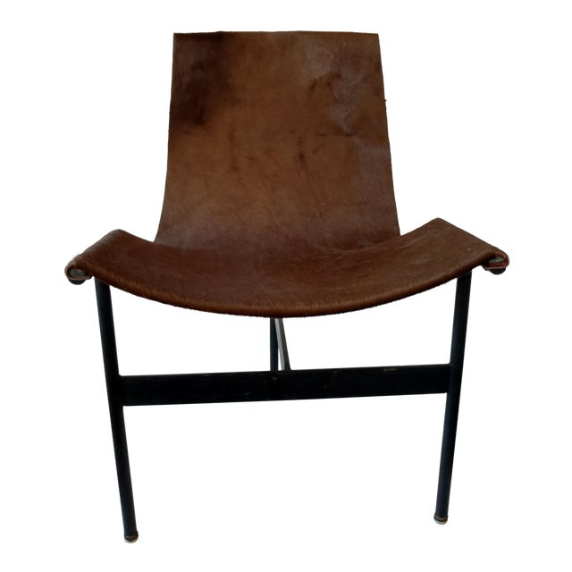 Metal and Leather Sling Zaha Chair - Image 1 of 5