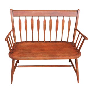 Early 20th Century Arrow Back Windsor Settee