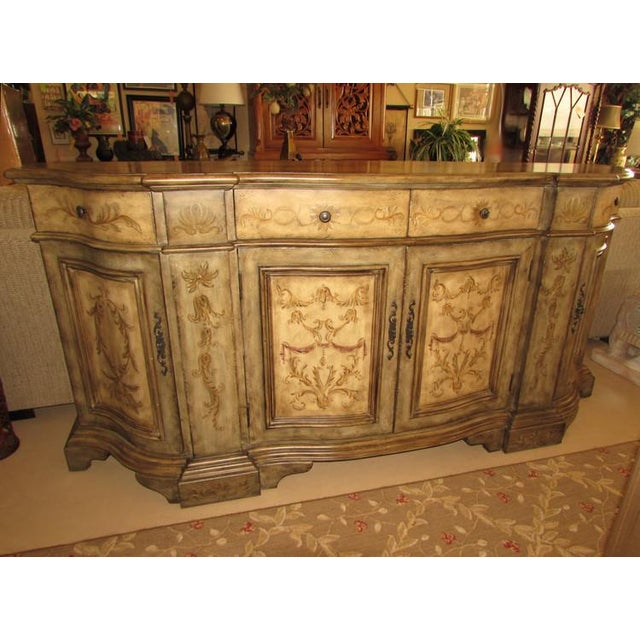 Hooker Furniture Hand Painted Buffet - Image 2 of 9