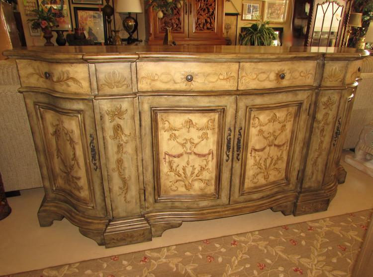 Nice Hooker Furniture Hand Painted Buffet   Image 2 Of 9