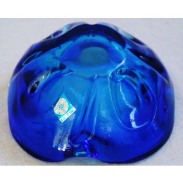 Mid-Century Azure Blue Murano Art Glass Dish - Image 5 of 8