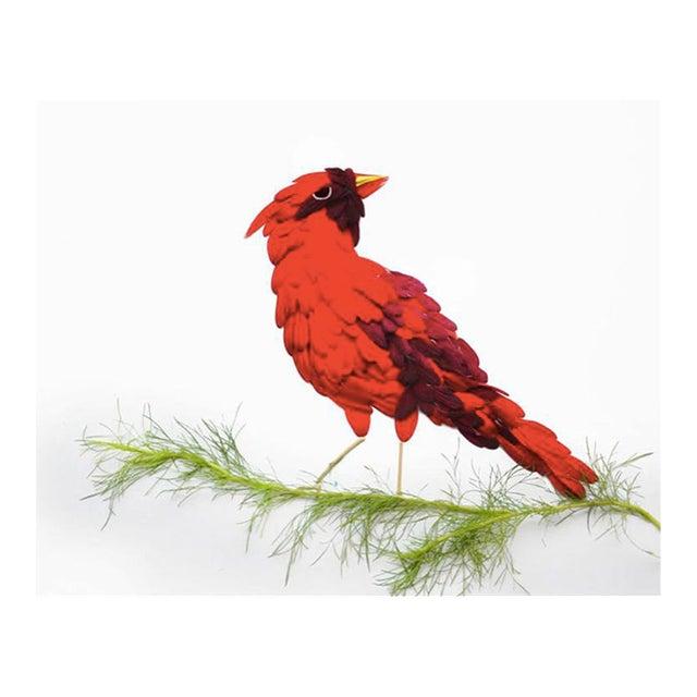 """Red Hongyi """"Cardinal"""" Print - Image 1 of 3"""