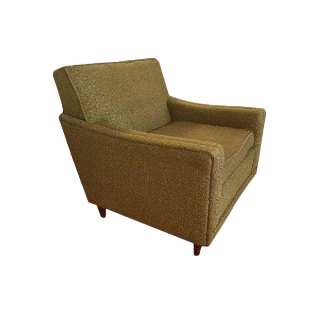 Image of Mid-Century Modern Green Armchair