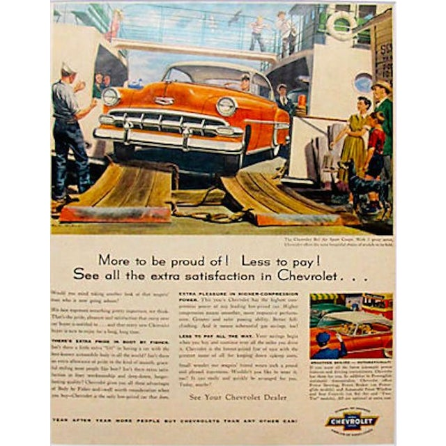 Image of 1960s Chevrolet Bel-Air Matted Advertisement