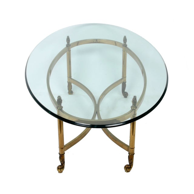Decorative French Glass & Brass Table - Image 4 of 10
