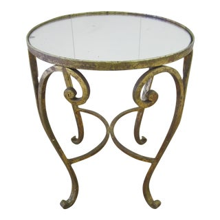 French Gilt Bronze & Mirror Side Table