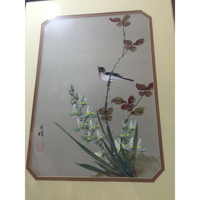 Image of Chinese Paintings on Silk - A Pair