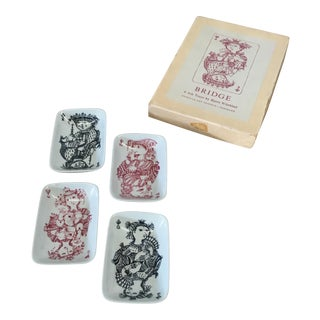 Card Game Ashtrays by Bjorn Wiinblad - Set of 4