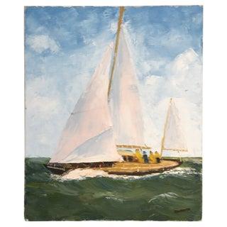 Vintage Nautical Painting Ray Burdette II