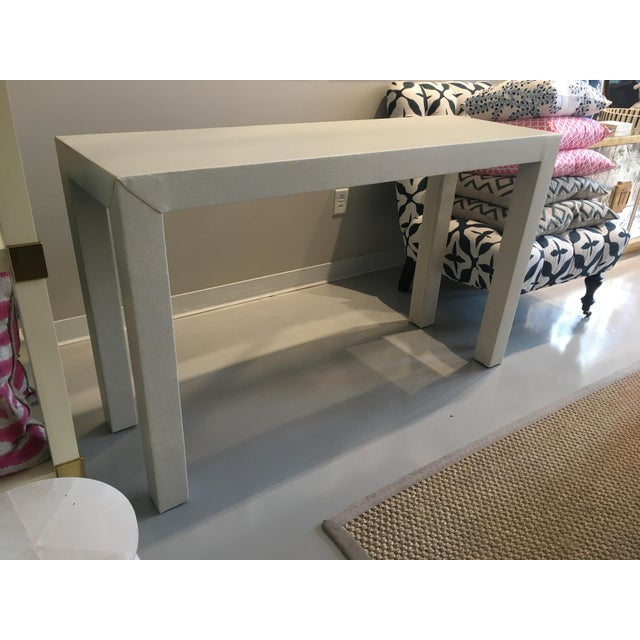 Upholstered Celine Parsons Table - Image 3 of 9