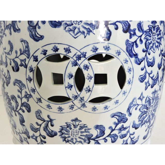 Blue & White Chinese Garden Seat - Image 3 of 4